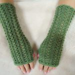 long fingerless mitts pattern